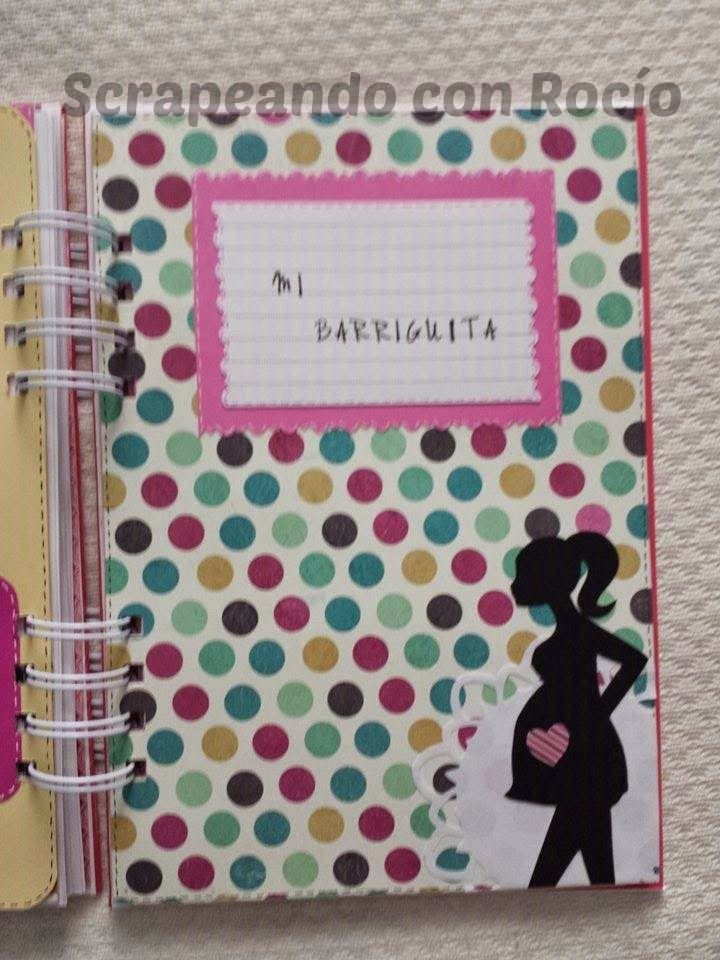 afab7e380 Diario de embarazo en scrapbooking. Pregnant book. Diario De Embarazada