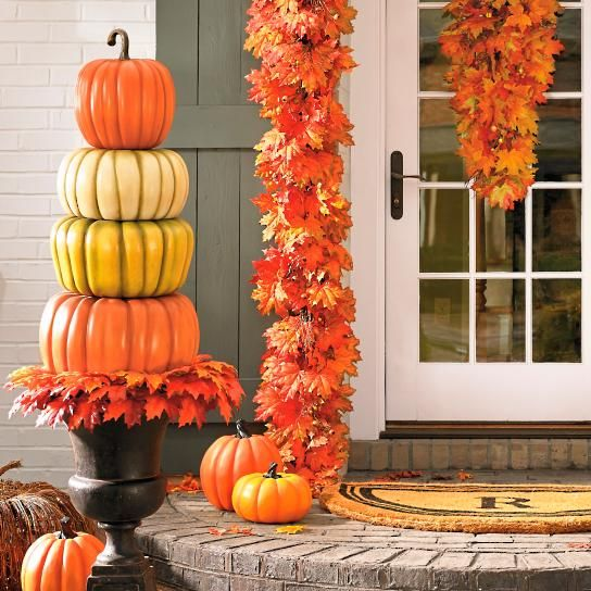 Stacked Pumpkin Topiary Fabulous \ - halloween inflatable decorations