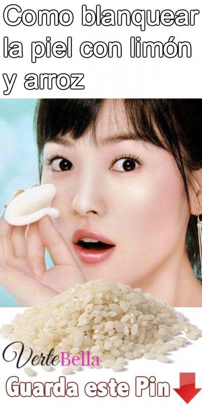 Como Blanquear La Piel Con Limón Y Arroz Blanquear La Piel Cuidado De La Piel Coreano Tratamiento De Piel