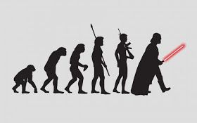 """""""I find your lack of evolutionary fate disturbing."""" (Said Darth Vader to Charles Darwin)"""