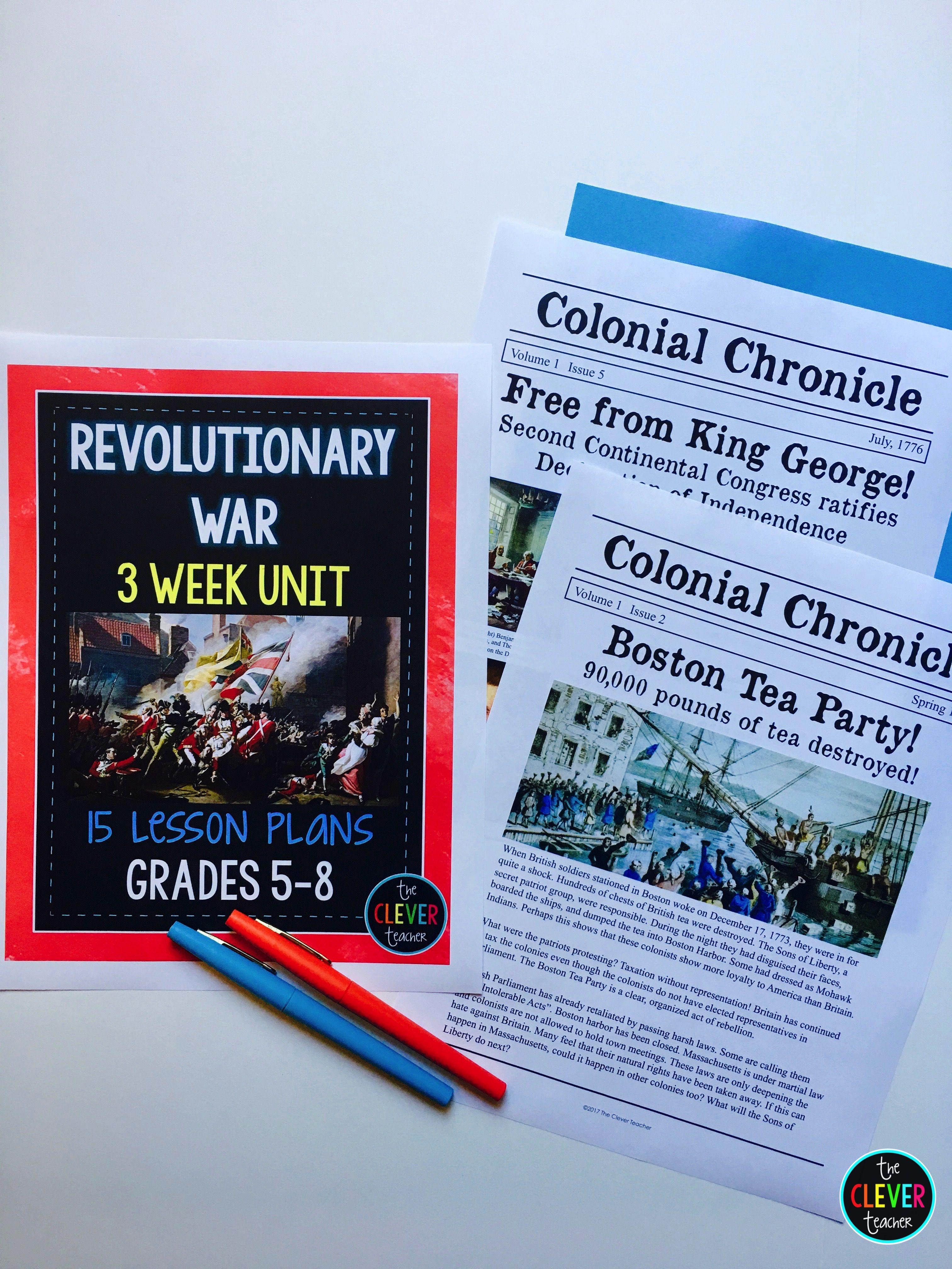 Revolutionary War 3 Week Unit