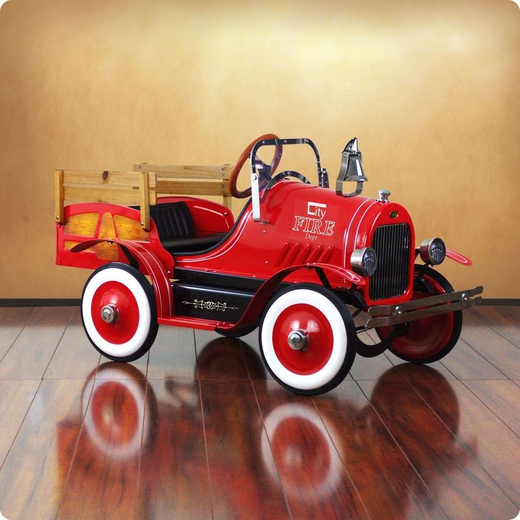Car interior decoration toys  Deluxe Fire Engine Roadster Pedal Car  Pedal car and Fire engine