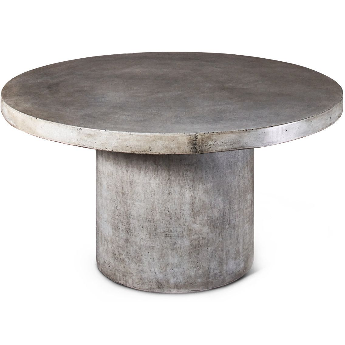 Round Concrete Dining Table HomettyJig Pinterest Concrete - Concrete pedestal dining table