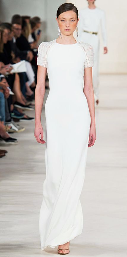 fc4eb6261c 23 Spring 2015 Runway Looks That Can Double as Wedding Dresses - Ralph  Lauren Collection from #InStyle