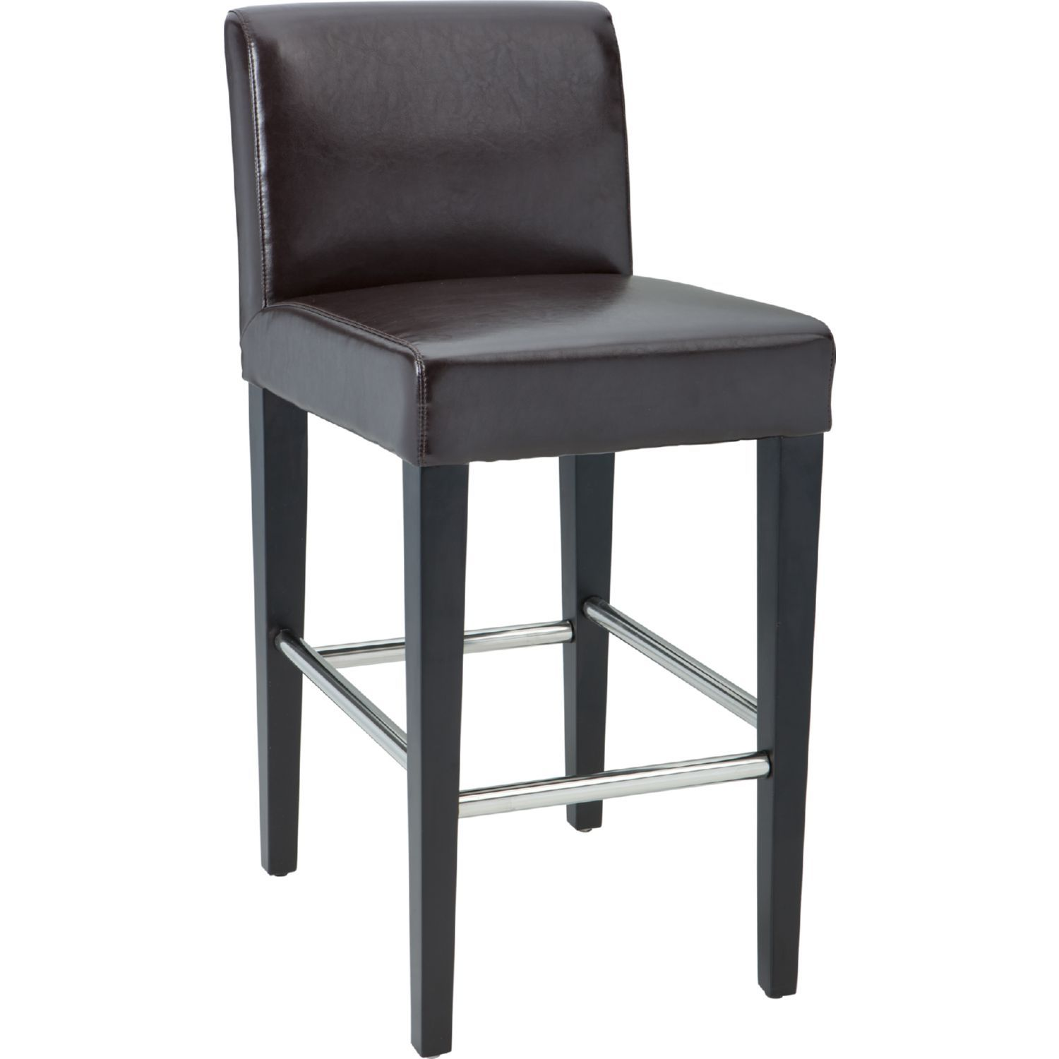 Sunpan Oriana Counter Height Stool Brown Leather Leather Counter