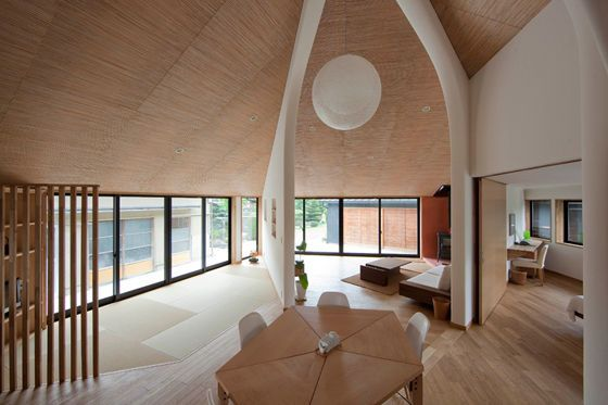 pentagonal house by kazuya morita architecture studio.  super cool design and layout.