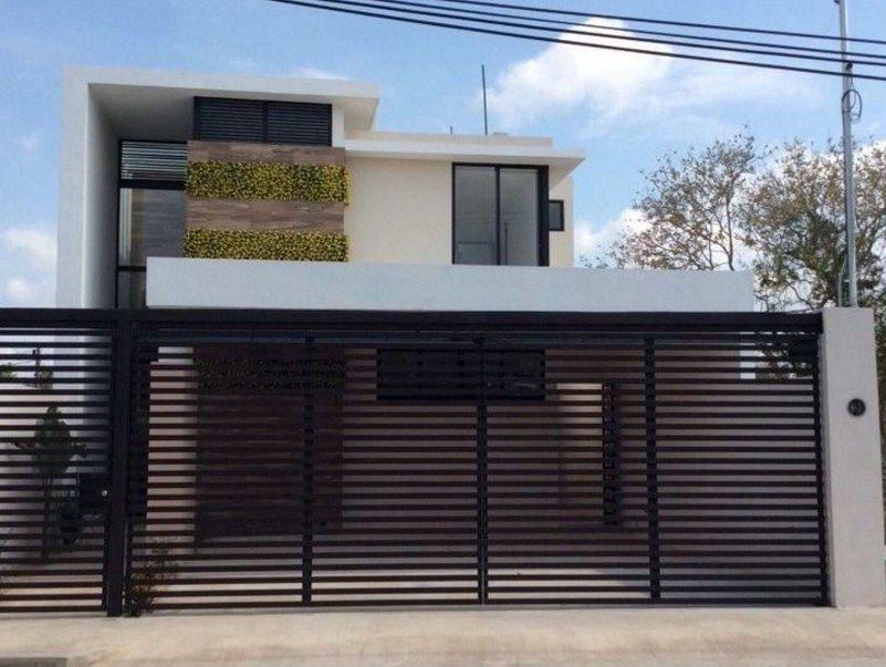 Fachadas de casas con balcon y cochera con rejas casas for Aberturas para casas modernas