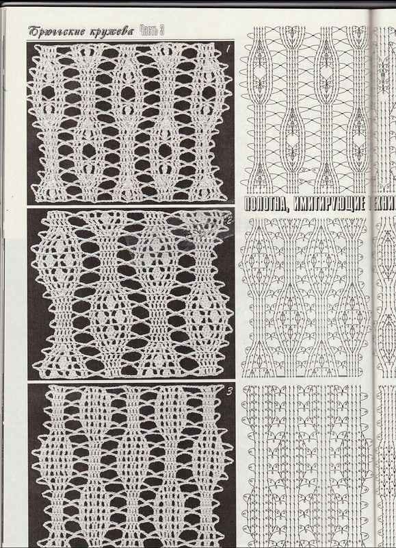 Дуплет-Брюггские кружева 3 (104).JPG | Pinterest | Puntos crochet ...