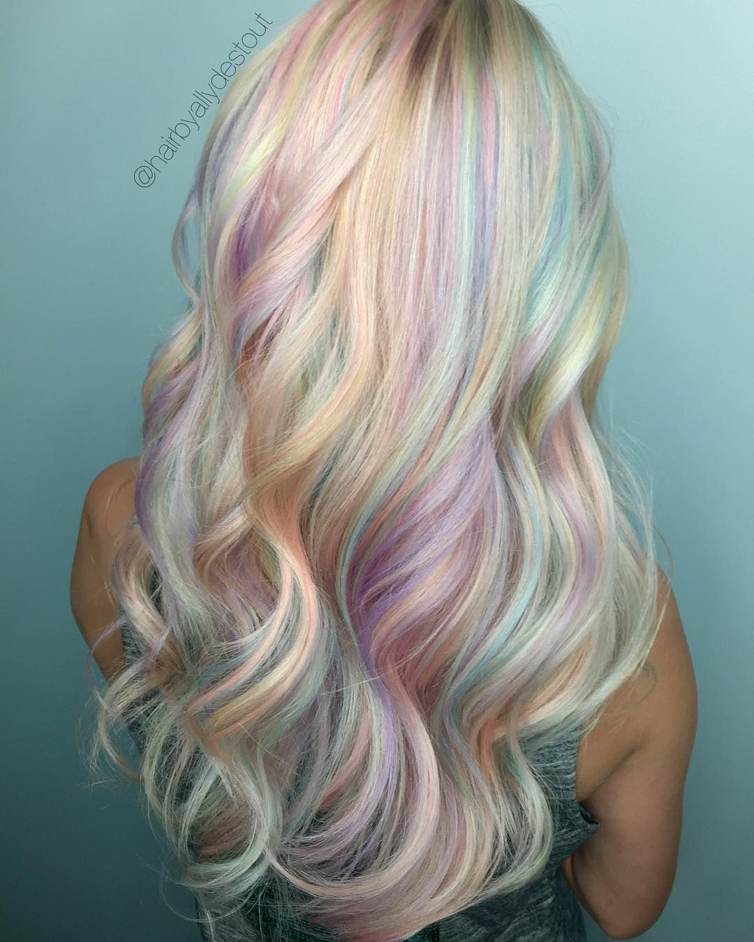 """467 Likes, 31 Comments - 🌸Ally DeStout🌸 Kettering, OHIO (@allydestouttt) on Instagram: """"💖OPAL HAIR💖 my first time trying out this trend and I am so pleased! Unicorns DO exist! I had one…"""""""