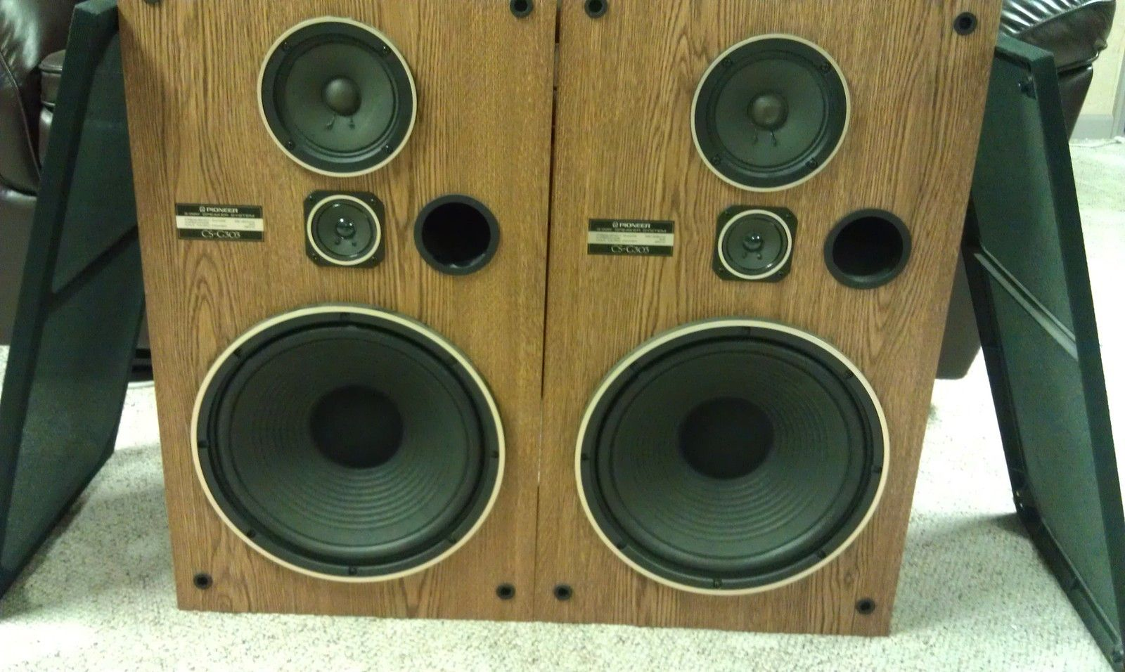 Pioneer Cs G303 Tower Speakers 12 Woofers 3 Way Vintage Sound Great Audio Sonido