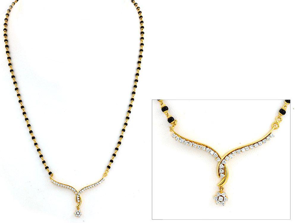281ba50df836e Tanishq Diamond Mangalsutra | Diamond MangalSutra | Stuff to Buy in ...