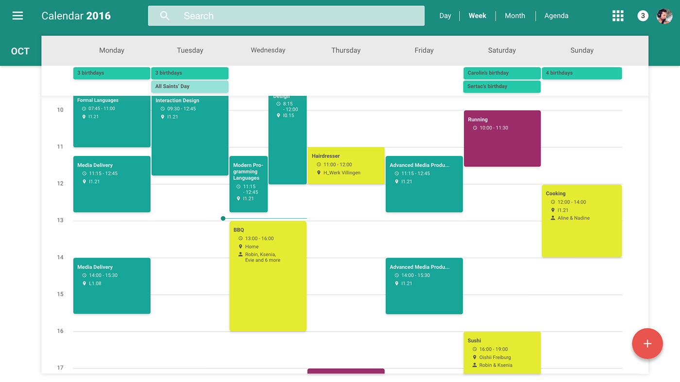 Redesign Of Google S Web Calendar Material Design On Behance Material Design Material Design Web Design Guidelines