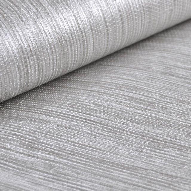 Vertical Texture Metallic Silver Faux Grasscloth Vinyl Modern Wall Paper Straw Glossy Grass Cloth Wallp Grasscloth Grasscloth Wallpaper Wallpaper Walls Bedroom