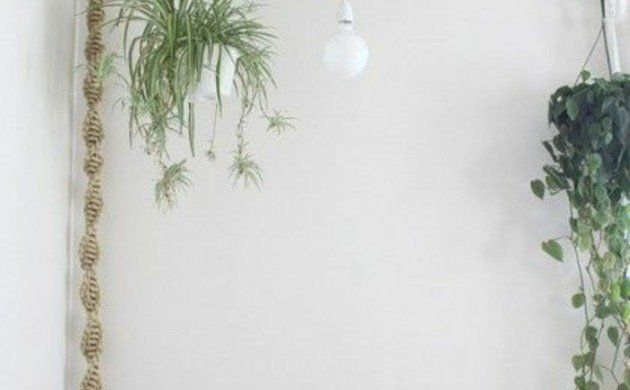 Lampen selber machen DIY Lampen mit Seil rustikale Wohnzimmer - wohnzimmer lampen rustikal