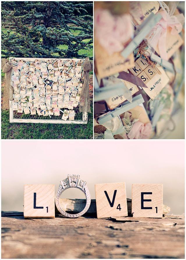 spielerei mit scrabble buchstaben wedding hochzeit fotos foto ideen zur hochzeit pinterest. Black Bedroom Furniture Sets. Home Design Ideas
