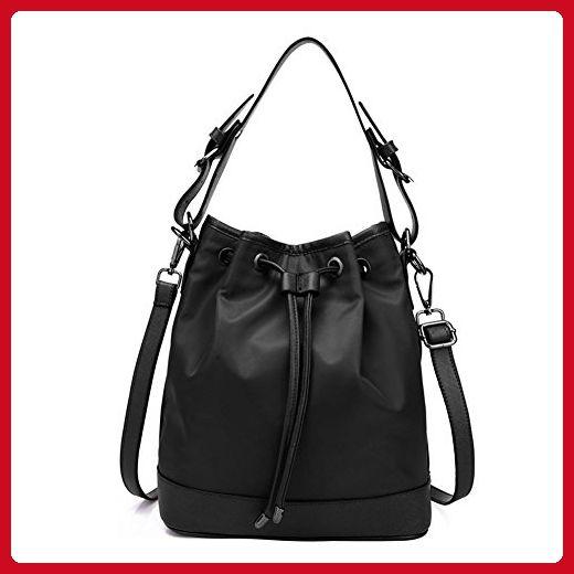 Dethan Womens Black High Capacity Nylon Canvas Bag Travel Shoulder Handbag  - Top handle bags ( 348a8268f8