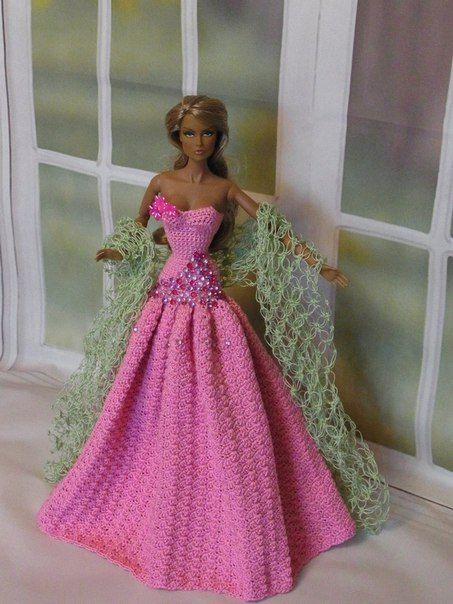 Фотографии Олеси Куколкиной | vestidos de Barby a croche y dos ...