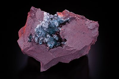 Fluorite on Hematite - Florence Mine, Egremont, Cumbria, England.