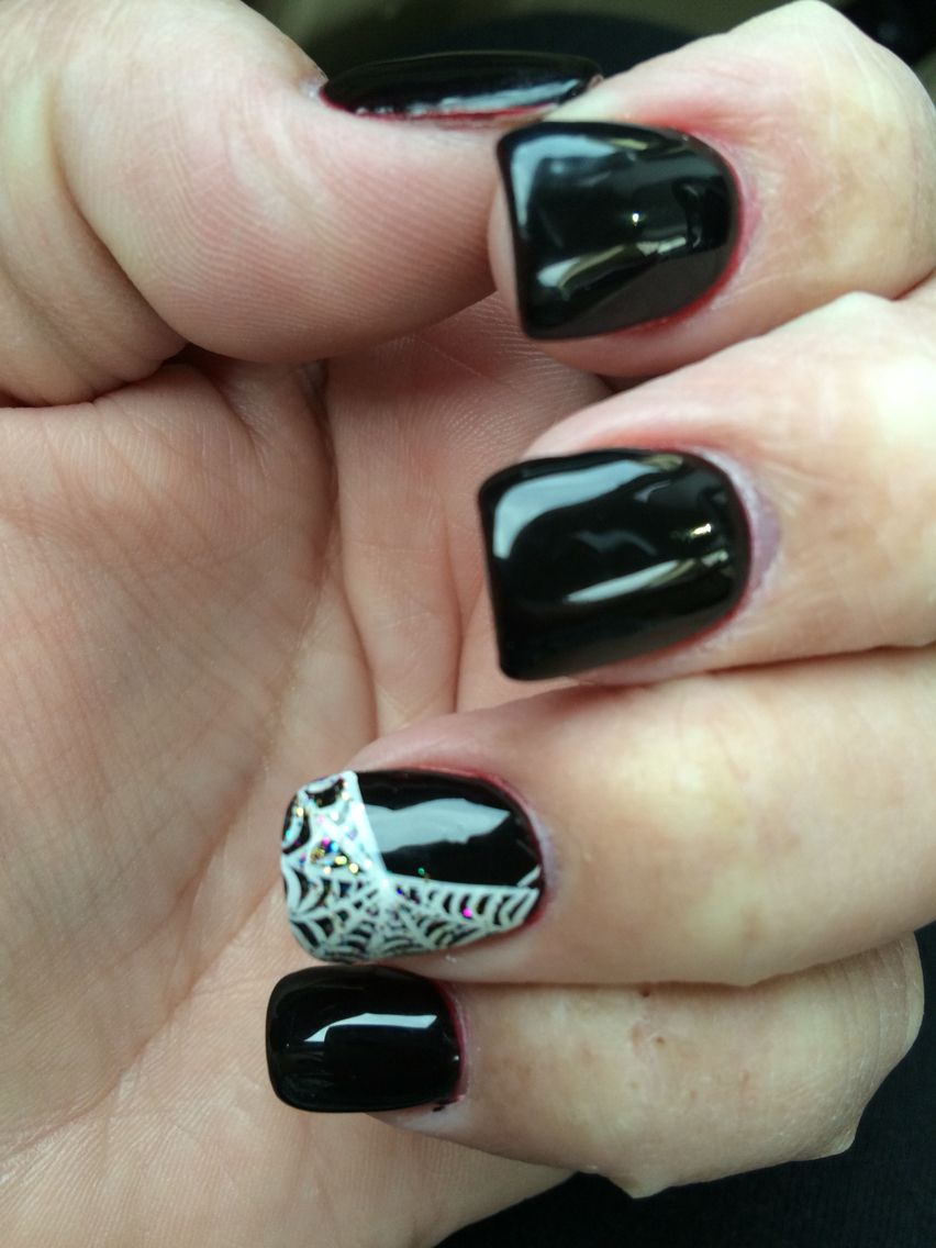 My Halloween nails, just a little spiderweb 2015