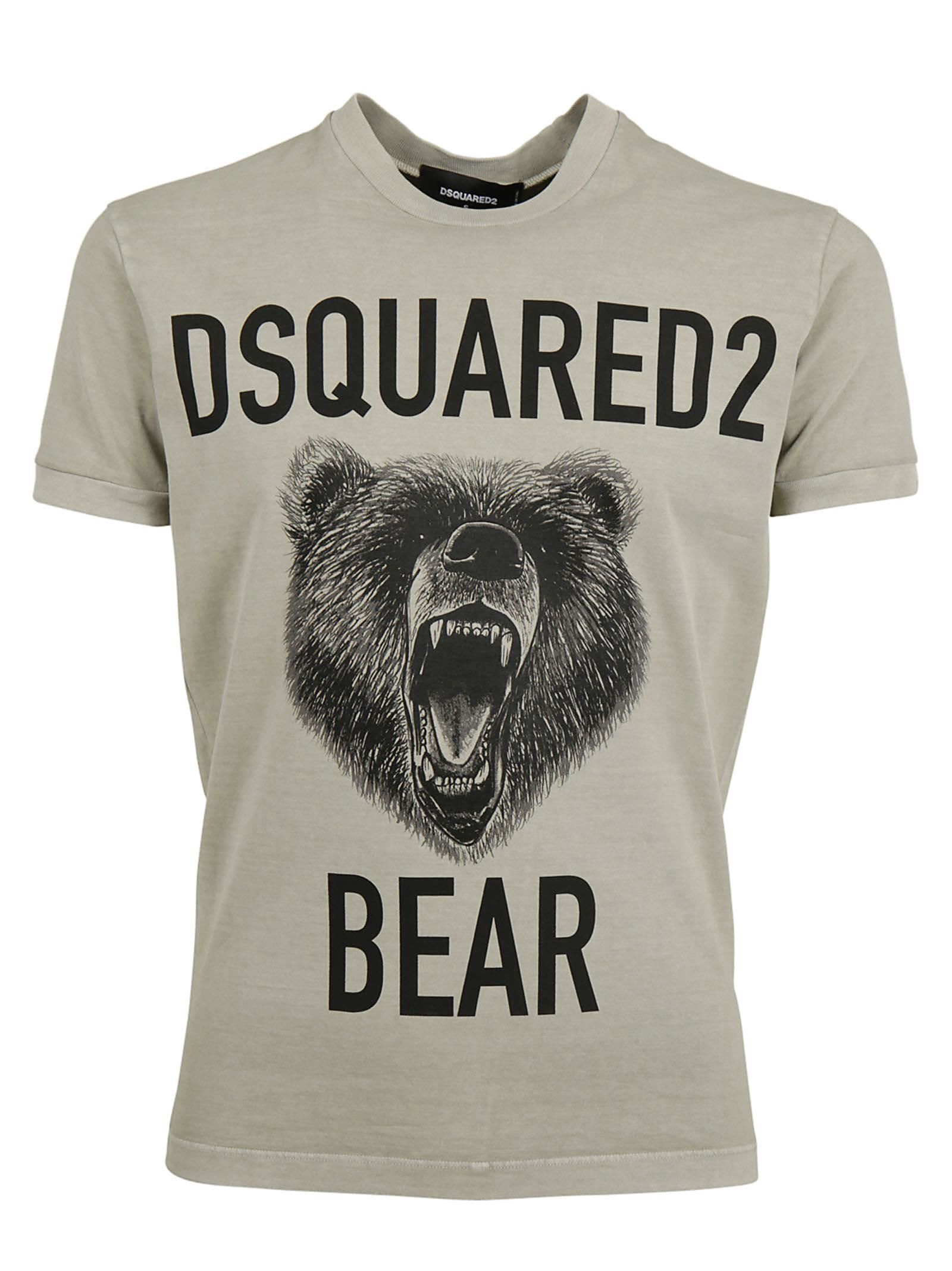 Pay With Paypal Online Comfortable Bears printed t-shirt Dsquared2 Buy Cheap Visa Payment 5erVmTz