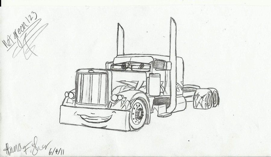Go Back > Gallery For > Peterbilt Coloring Pages (With