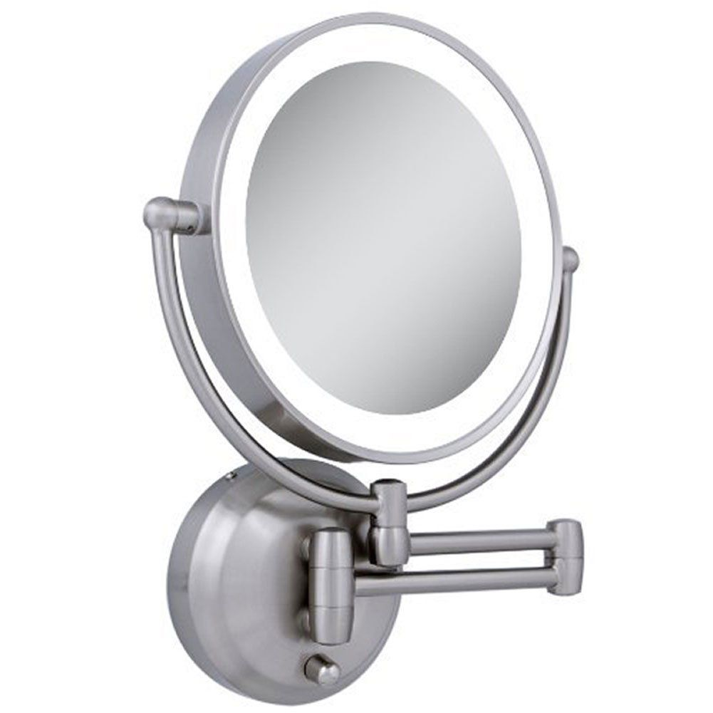 Zadro Led Lighted Wall Mount Mirror 1x To 10x Model No Ledw410 Wall Mounted Lighted Makeup Mirror Wall Mounted Makeup Mirror Wall Mounted Mirror