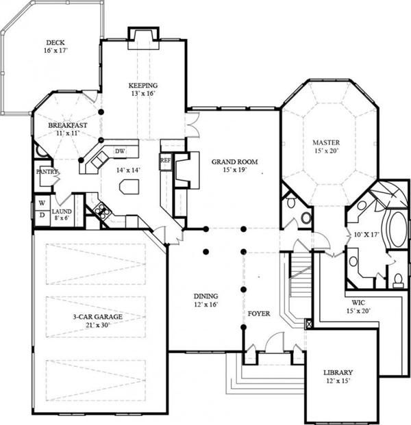 That Wic Tho 106 1272 House Plan First Floor House