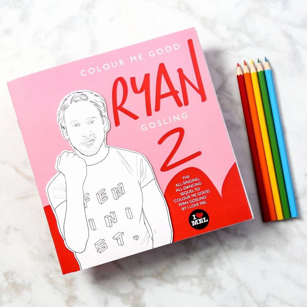 Ryan Gosling Coloring Books Beautiful Ryan Gosling Colouring Book By Colour Me Good By Berylune Kids Coloring Books Coloring Books Christmas Coloring Books