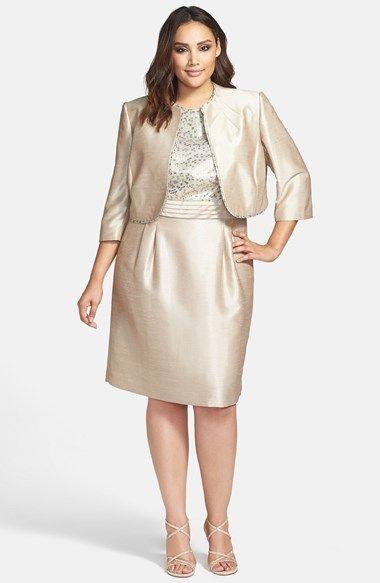 Tahari Jacquard Shantung Dress & Jacket (Plus Size) available at ...