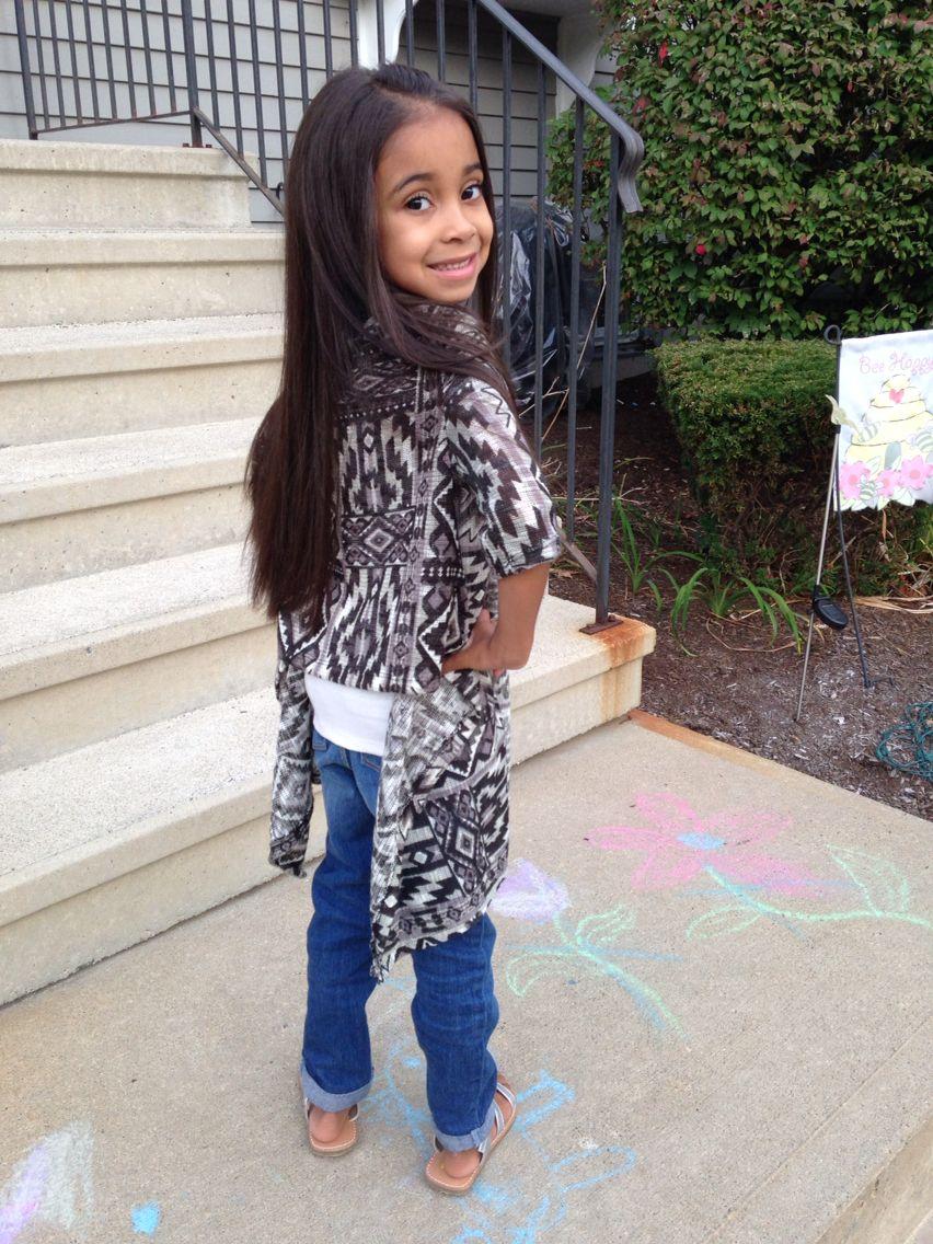 Kids Fashion. Black poncho