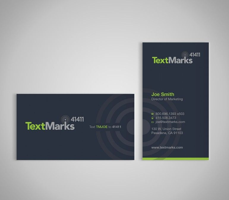 Create new business cards for text message provider by Shanina ...
