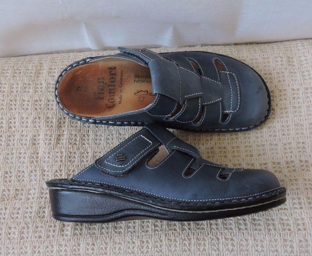 Finn Comfort Women Java Blue Clogs Mules Size 35 Clogs And Mules Women Shoes Finn Comfort