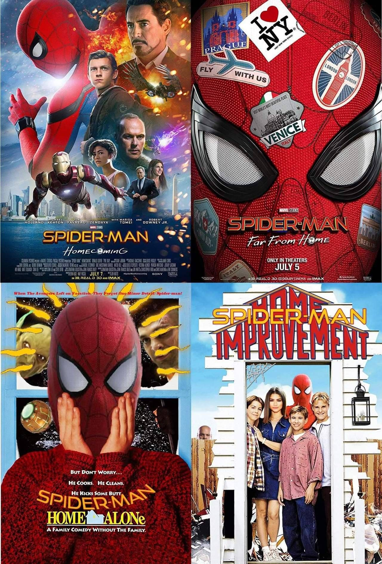 Spider Man 3 And 4 Look Great Avengers Memes Spiderman Marvel Funny Marvel