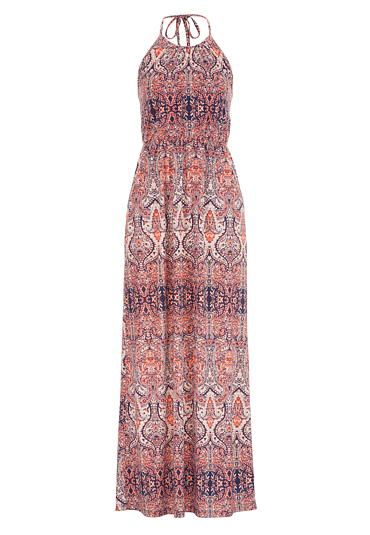 f6f0020e4651 patterned maxi dress with pockets (original price