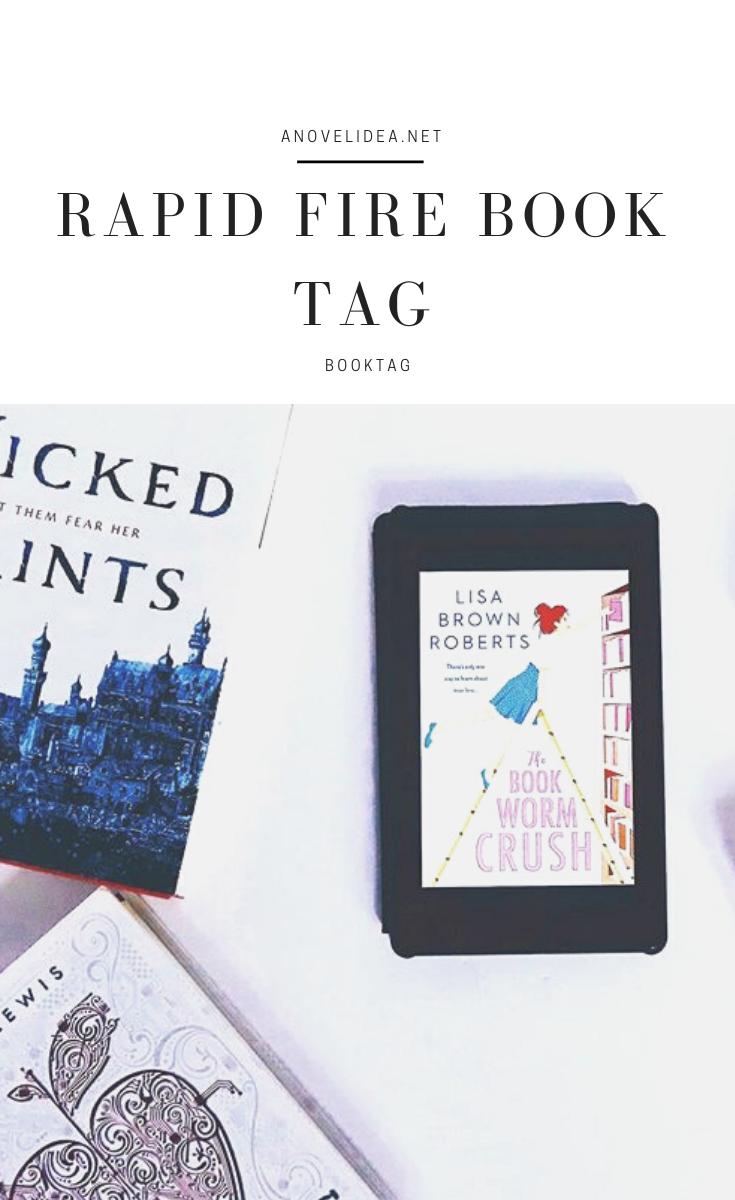 The Rapid Fire Book Tag A Novel Idea A Novel Idea Fire Book Book Blogger Book Discussion