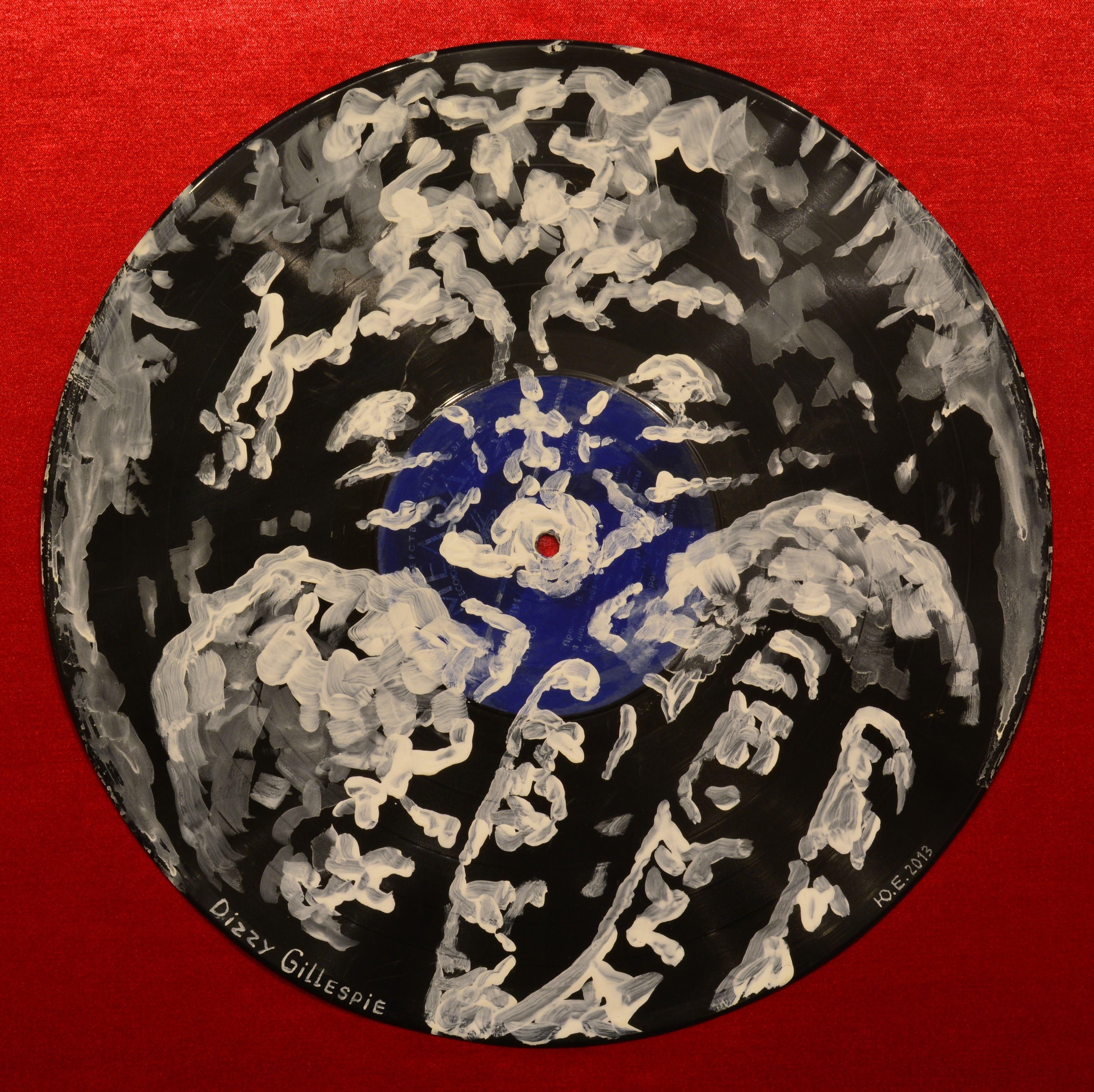 Yury Ermolenko, ''Dizzy Gillespie'' - Facevinyl - THE BIG COLLECTION - №8, side I, 2013, acrylic on vinyl. The History of Jazz and Blues. #YuryErmolenko #еrmolenko #ЮрийЕрмоленко #ермоленко #yuryermolenko #юрийермоленко #юрийермоленкохудожник #юрiйєрмоленко #ЮрiйЄрмоленко #єрмоленко #rapanstudio #modernart #fineart #contemporaryart #painting #art #vinyl #texture #portrait #music #jazzmusic #bluesmusic #Facevinyl #jazz #blues #RapanStudio #artproject #портрет #музыкант #musician…
