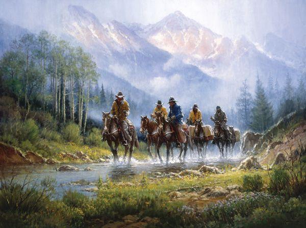 Scottsdale Art Auction, G. Harvey, No Thoughts of Dow Jones, oil, 36 x 48. Estimate: $125,000-$225,000.
