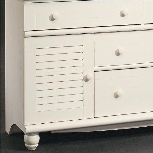 Sauder Harbor View Dresser Antiqued, White  http://www.furnituressale.com/sauder-harbor-view-dresser-antiqued-white-2/