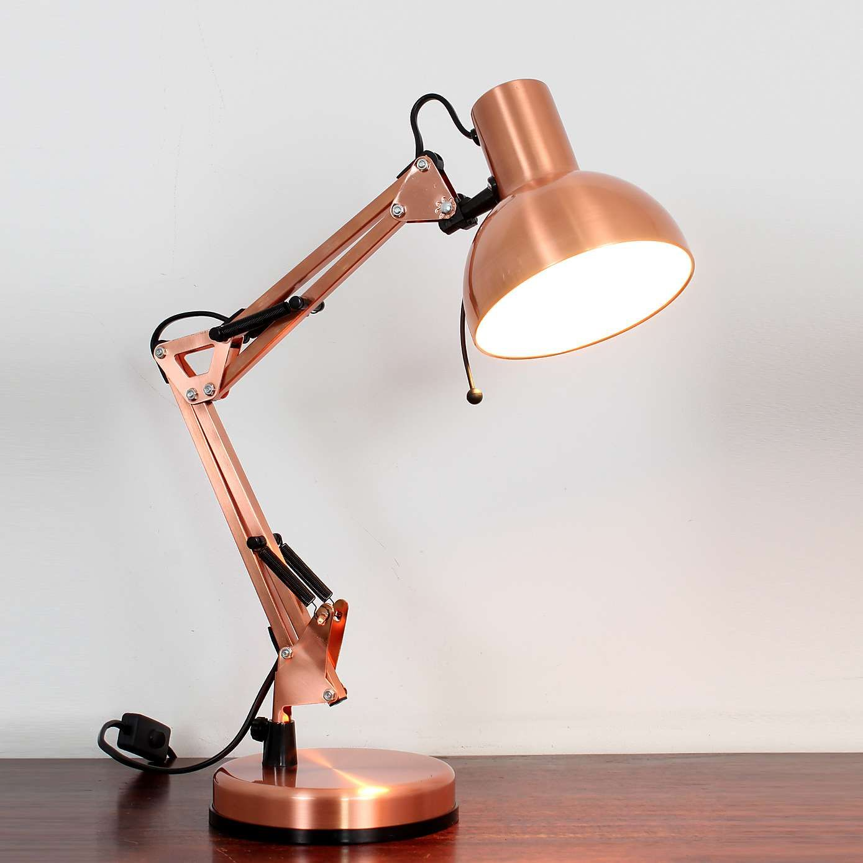 Macbeth Copper Adjustable Table Lamp Office Bedside Bedroom Reading Desk Light