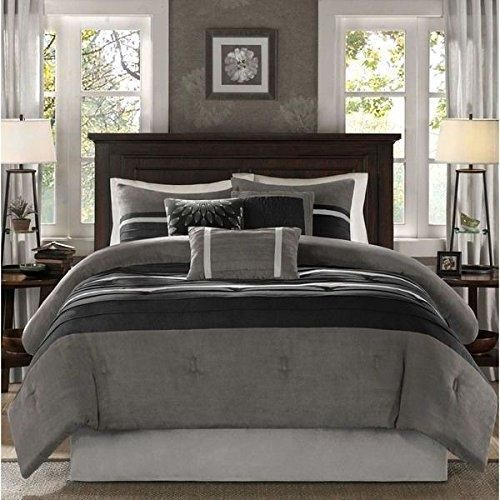 7 Piece California King Comforter Set Luxurious Patchwork