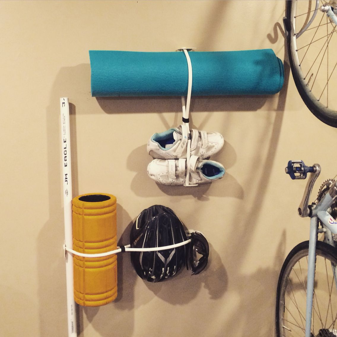 Gear Grabber Organizing Yoga Mat, Foam Roller, Bike Helmet, Shoes And More.