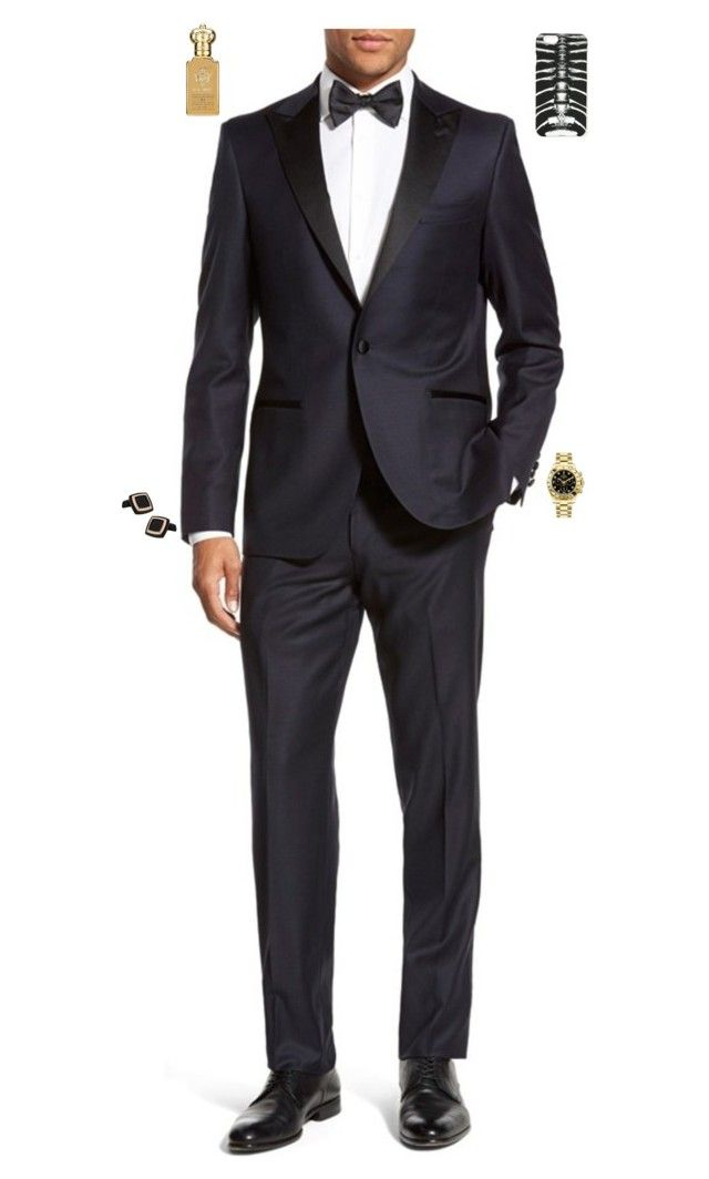 """""""Night jazz club"""" by stylev ❤ liked on Polyvore featuring Strong Suit, Clive Christian, Cuff-Daddy, Rolex, Marcelo Burlon, men's fashion and menswear"""