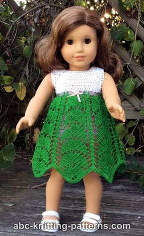 Abc Knitting Patterns American Girl Doll Tropical Vacation Dress