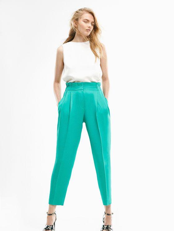 3343849e4 Los pantalones de mujer más elegantes de primavera verano 2017 en Massimo  Dutti. Pantalones palazzo