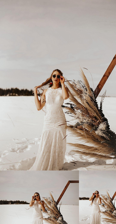 Photo of bohemian winter elopement  — Danielle Johnson Photo
