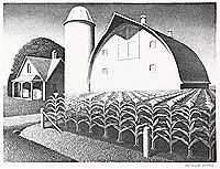 Grant Wood U.S. 1891-1942 Fertility, 1939 Lithograph