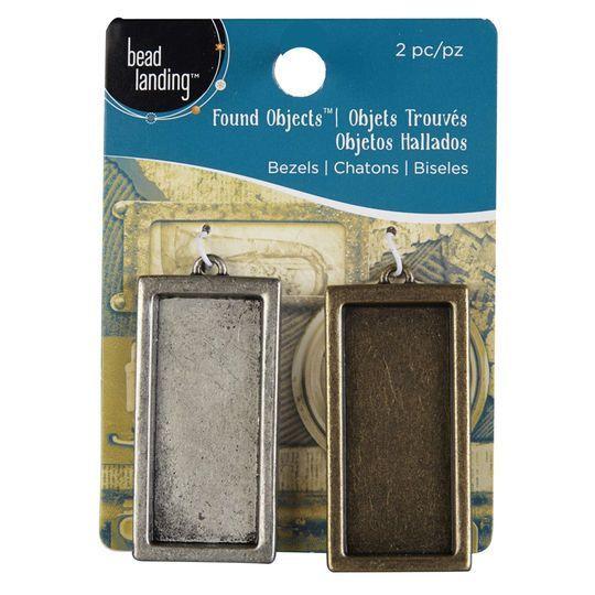 Bead Landing Found Objects Antique Silver & Brass Bezels