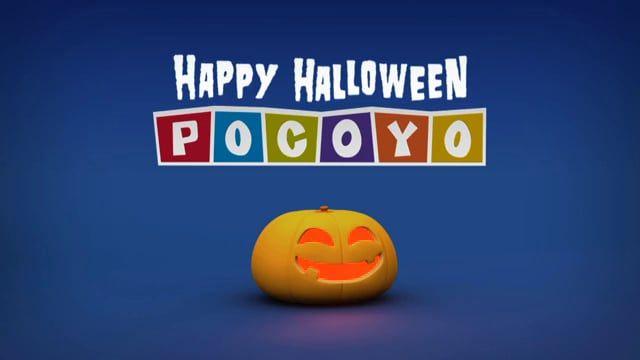Pieza promocional de Pocoyo felicitando Halloween.