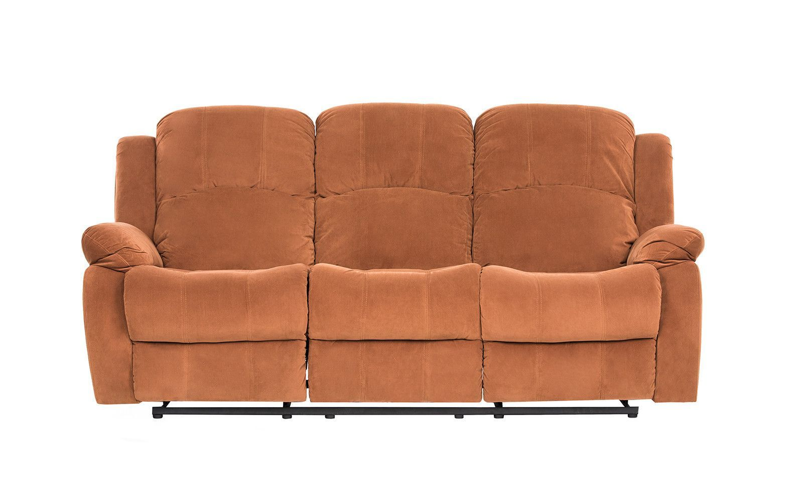 Lazy Boy Sofa Fox Traditional Microfiber Recliner Sofa