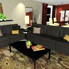 Decorating Ideas For Living Rooms With Dark Green Couches Google
